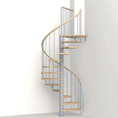 Phoenix 47 in. Grey Spiral Staircase Kit