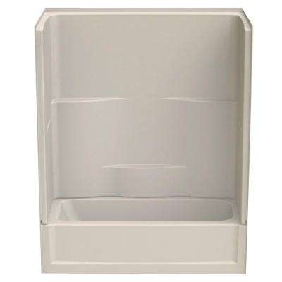Remodeline 60 in. x 30 in. x 72 in. 2-Piece Bath and Shower Kit with Right Drain in Bone