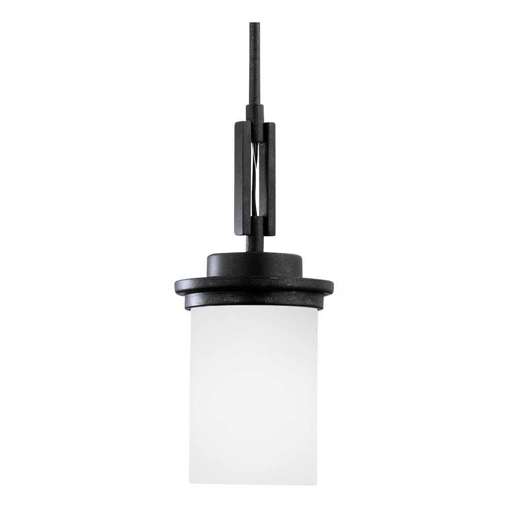 Winnetka 1-Light Blacksmith Pendant with LED Bulb