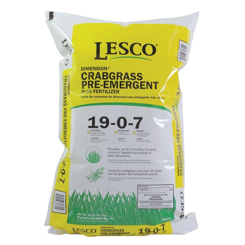 Lesco 50 Lb 19 0 7 Dimension Crabgrass Preventer 080311 The Home Depot