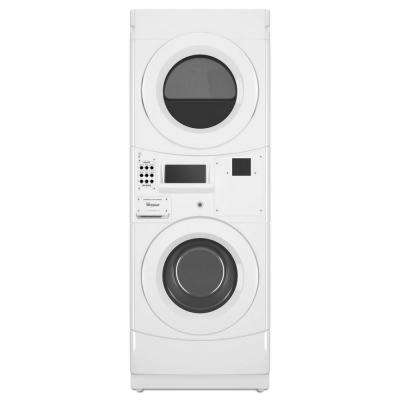 White Commercial Laundry Center with 3.1 cu. ft. Washer and 6.7 cu. ft. 240-Volt Electric Vented Dryer