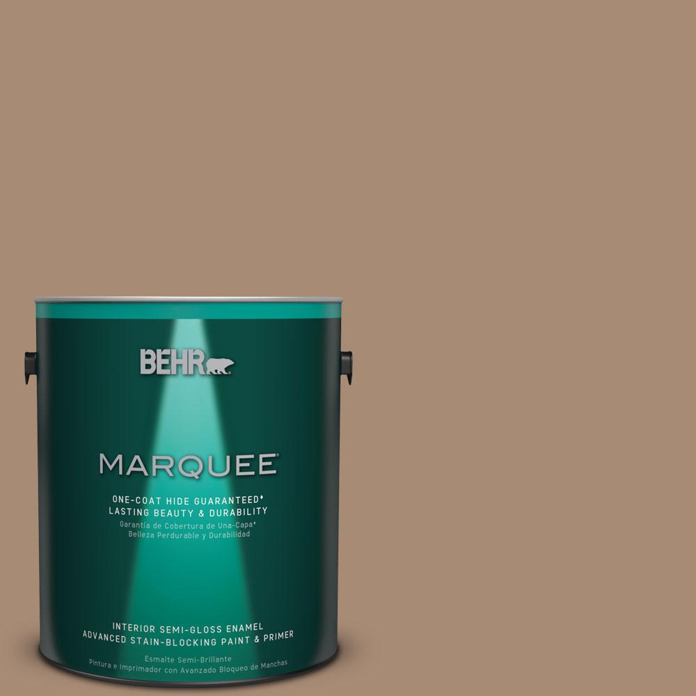 1 gal. #N240-5 Rodeo Tan One-Coat Hide Semi-Gloss Enamel Interior Paint
