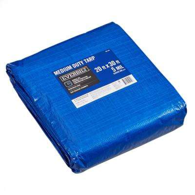 20 ft  x 30 ft  Blue Medium Duty General Purpose Tarp