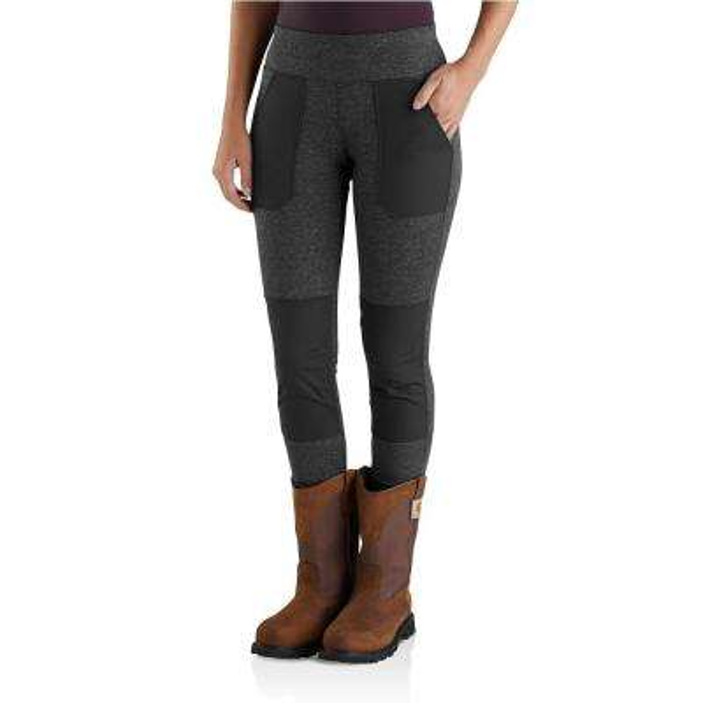 Women's Tall Medium Black Heather Nylon/Poly/Spandex Force Utility Legging Pant