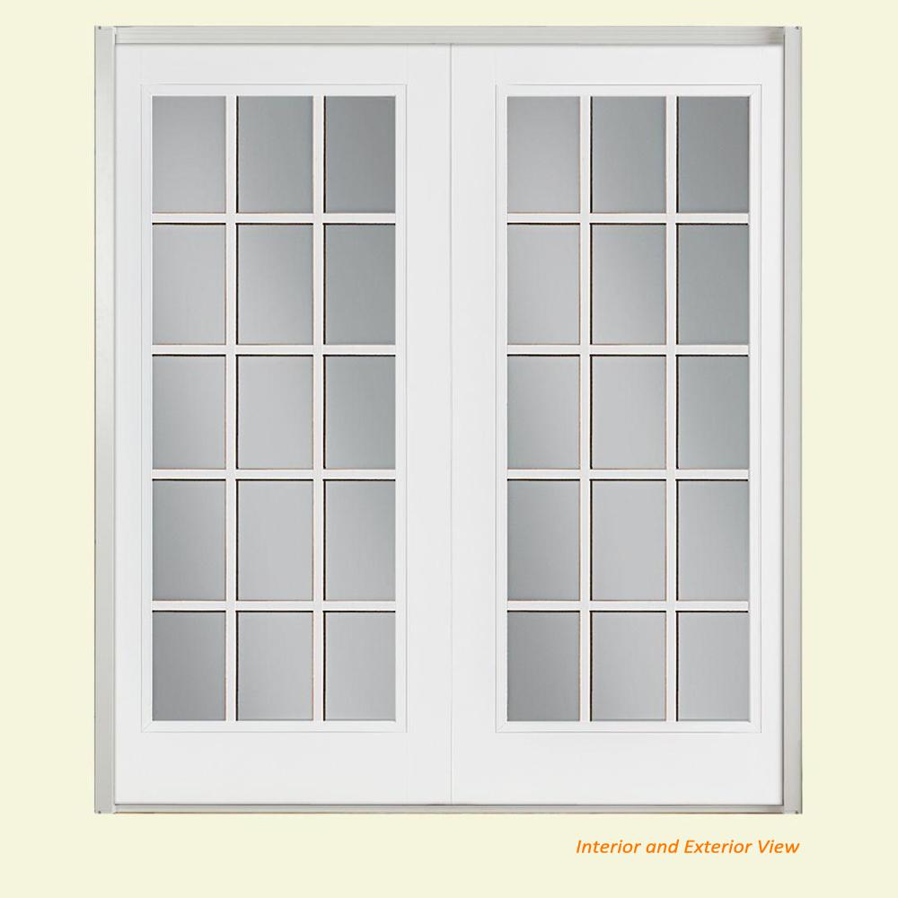 French doors 72 x 80 compare prices at nextag masonite 72 in x 80 in ultra white fiberglass prehung l planetlyrics Gallery