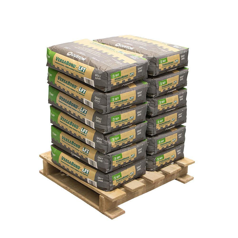 VersaBond-LFT 50 lbs. Gray Fortified Medium Bed Mortar (12 Bags/Pallet)