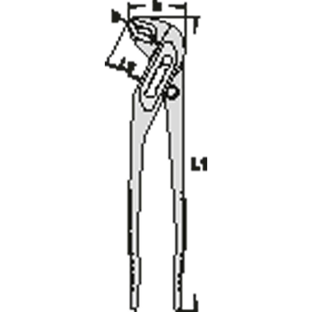 10 in. Universal pliers, 7 Settings