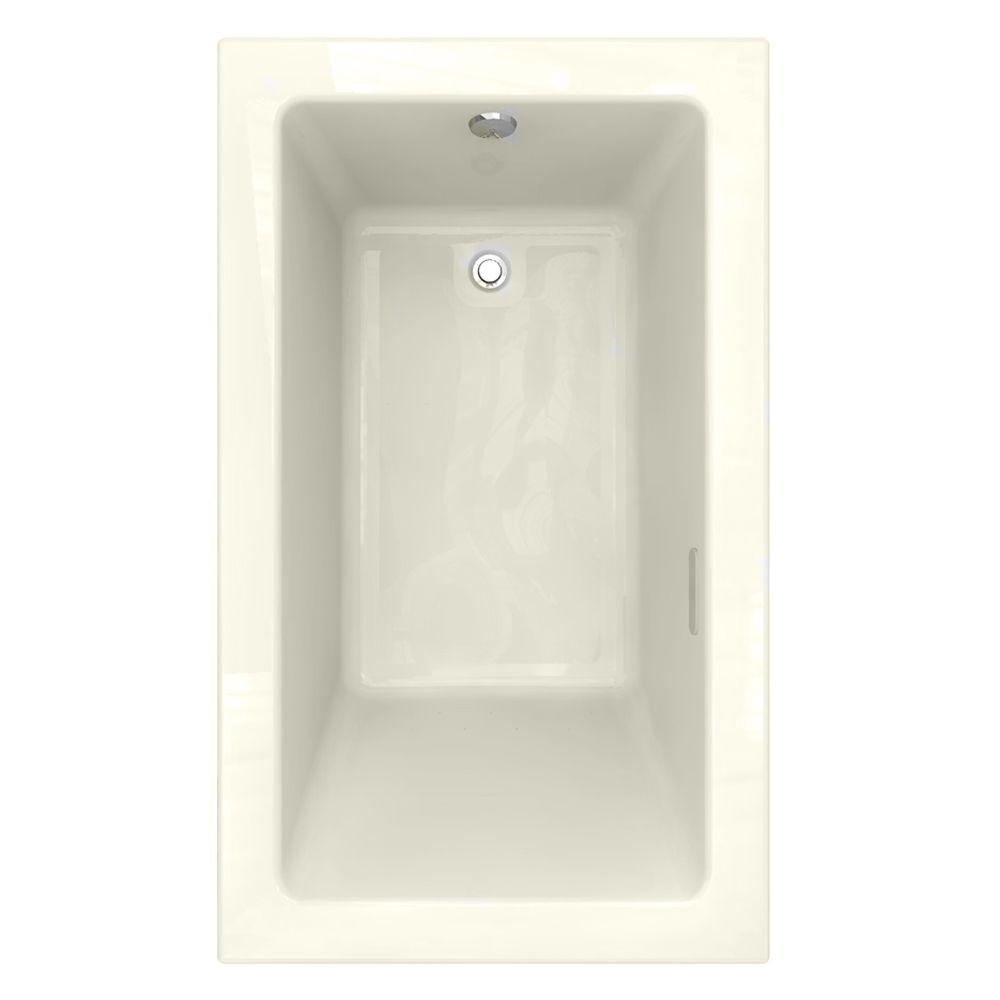 American Standard Studio EverClean 5 ft. x 36 in. Air Bath Tub with Zero Edge Profile in Linen