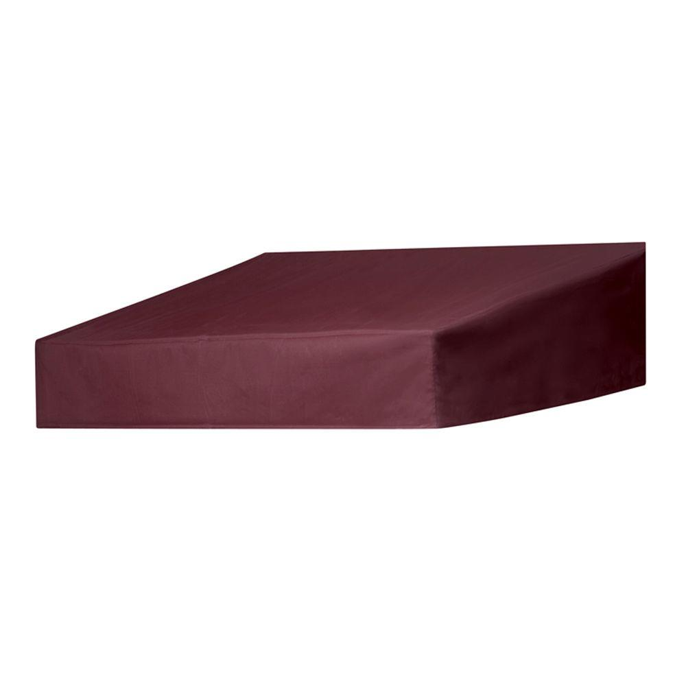 4 ft. Classic Non-Retractable Door Canopy (50 in. Projection) in Burgundy