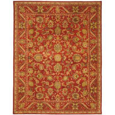Antiquity Red 9 ft. 6 in. x 13 ft. 6 in. Area Rug