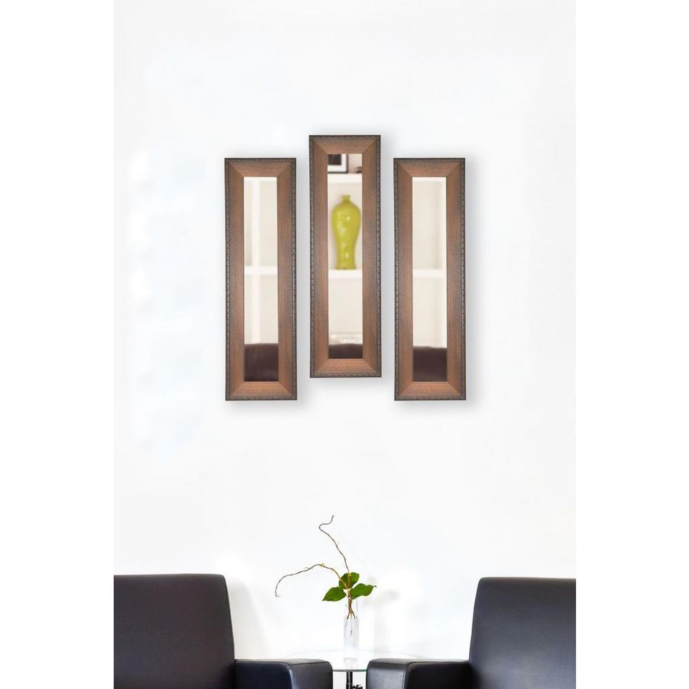 15.5 in. x 29.5 in. Timber Estate Vanity Mirror (Set of 3-Panels)