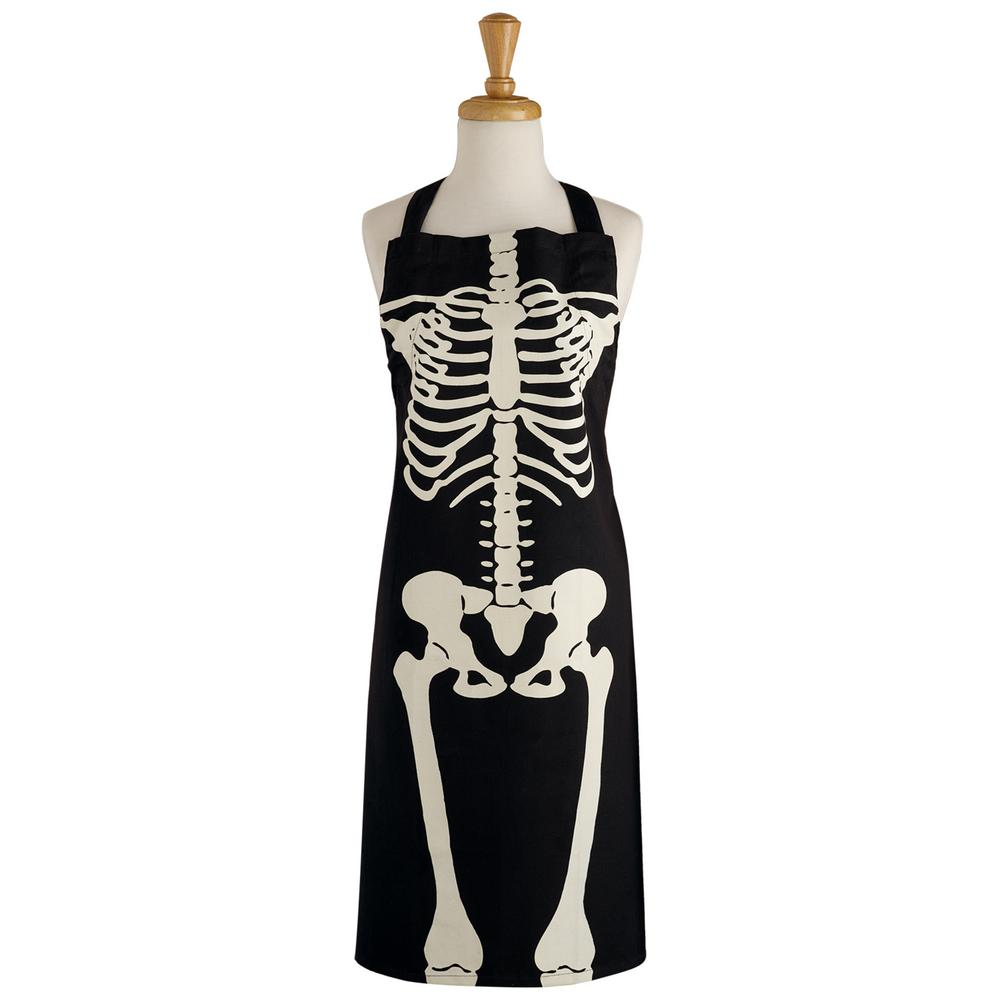 Design Imports Black Skeleton Printed Chef\'s Apron-COSD39281 - The ...