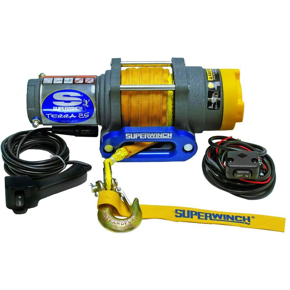 Superwinch Terra 25 Wiring Diagram Trusted Atv Winch Solenoid Series 25sr 12 Volt Dc With Hawse Rh Homedepot Com Switch T1500