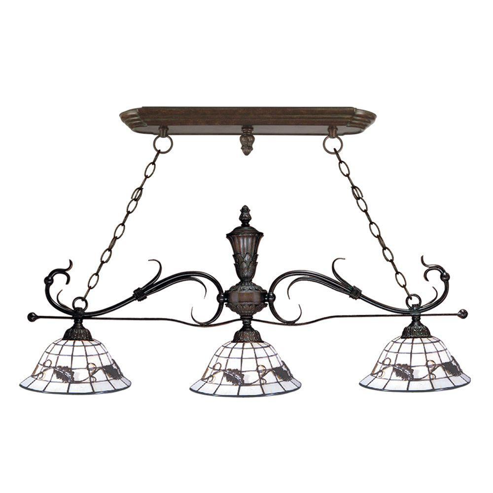Dale Tiffany Iron 3-Light Hanging Antique Bronze Chandelier