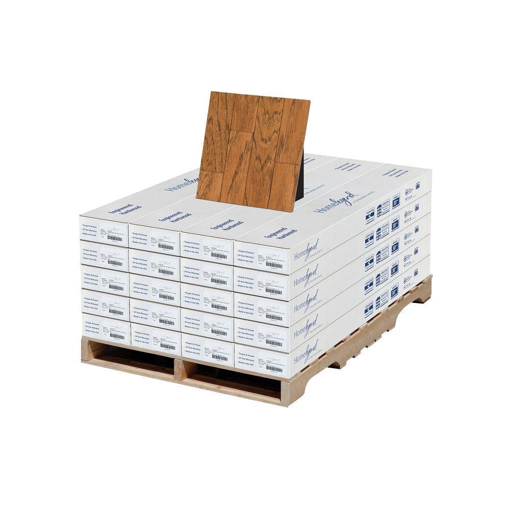 Home Legend Hickory Gunstock 3/8 in. T x 7 in. W x Random Length Engineered Hardwood Flooring (354 sq. ft. / pallet)