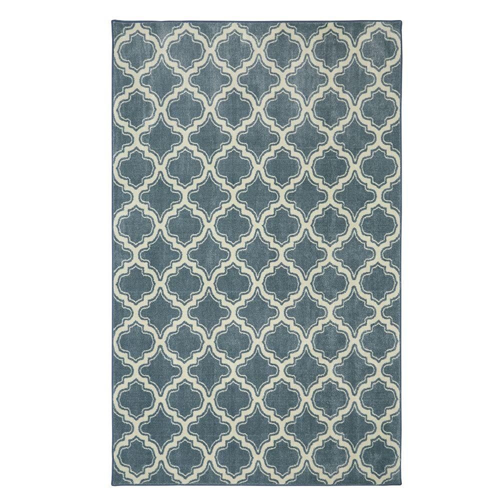Calabasas Uno Light Blue 5 ft. x 8 ft. Area Rug