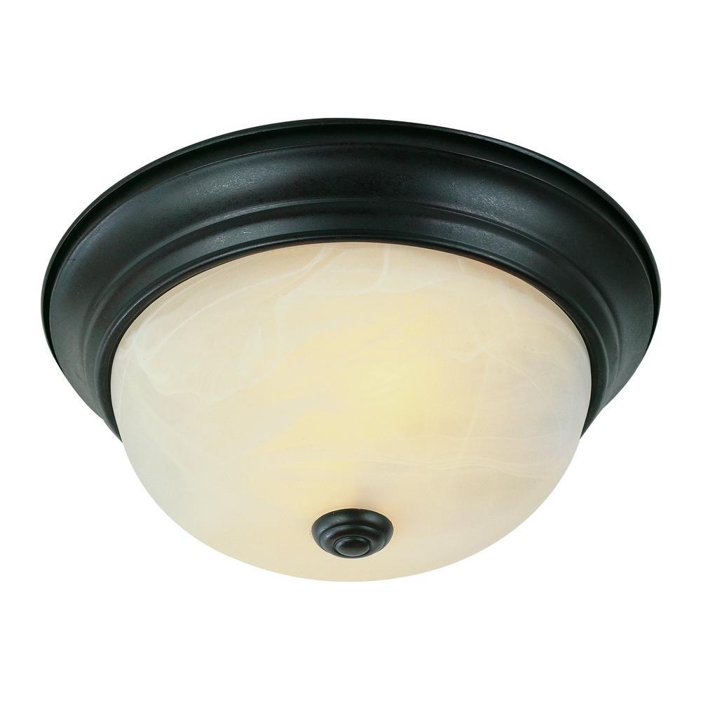 Browns 19-Watt Rubbed Oil Bronze Integrated LED Flushmount
