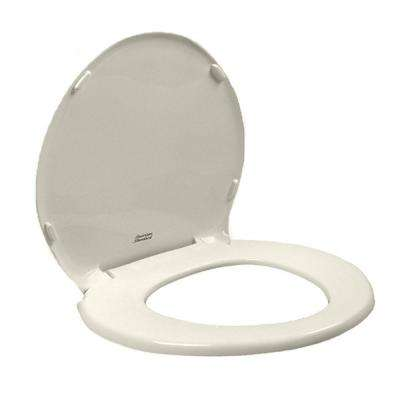 Champion Slow Close Round Closed Front Toilet Seat with Cover in Linen