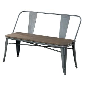 Sensational Lela Industrial Style Gray Finish Bench Ncnpc Chair Design For Home Ncnpcorg