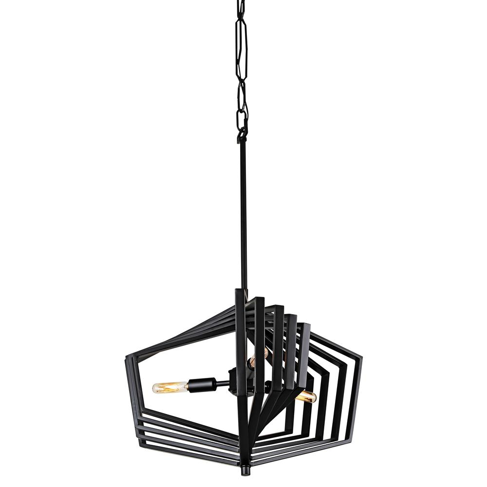 Varaluz Gymnast 3-Light Black Pendant