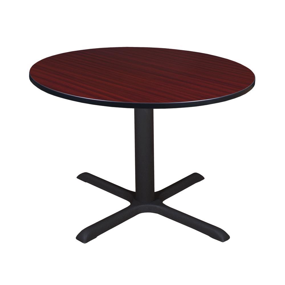 Cain Mahogany Round 48 in. Breakroom Table