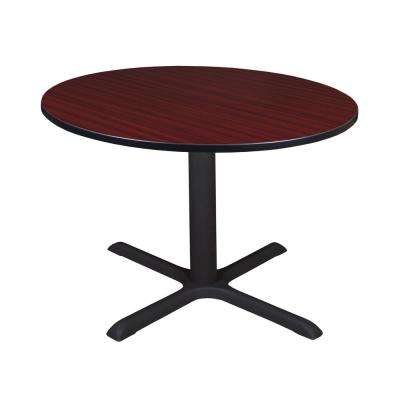 Cain Mahogany Round 48 in. Breakroom Table