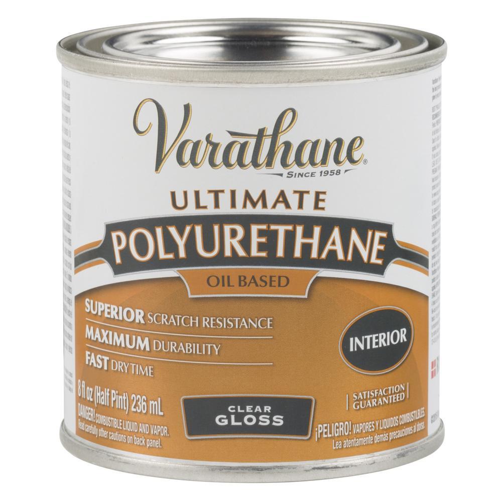 8 oz. Clear Gloss Oil-Based Interior Polyurethane (4-Pack)