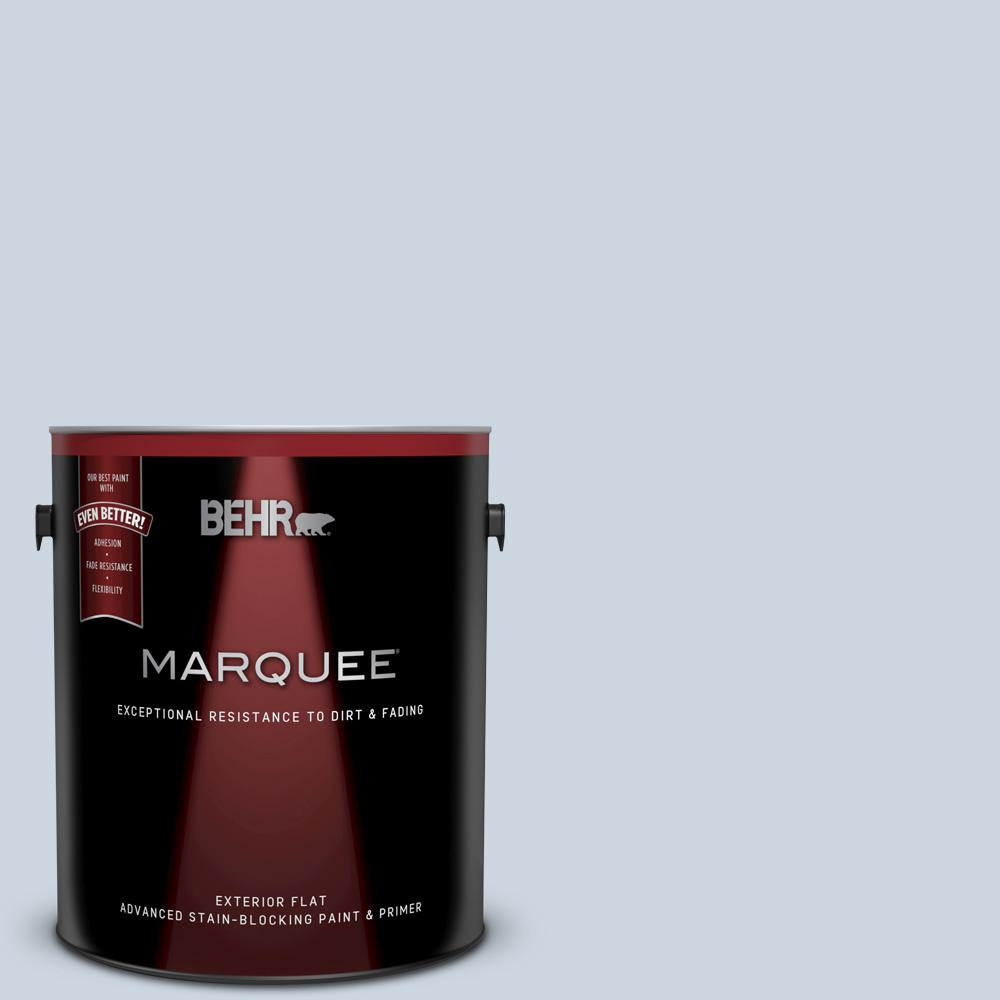 Behr Marquee 1 Gal Mq3 60 Blue Gossamer Flat Exterior Paint And Primer In One 445001 The Home Depot