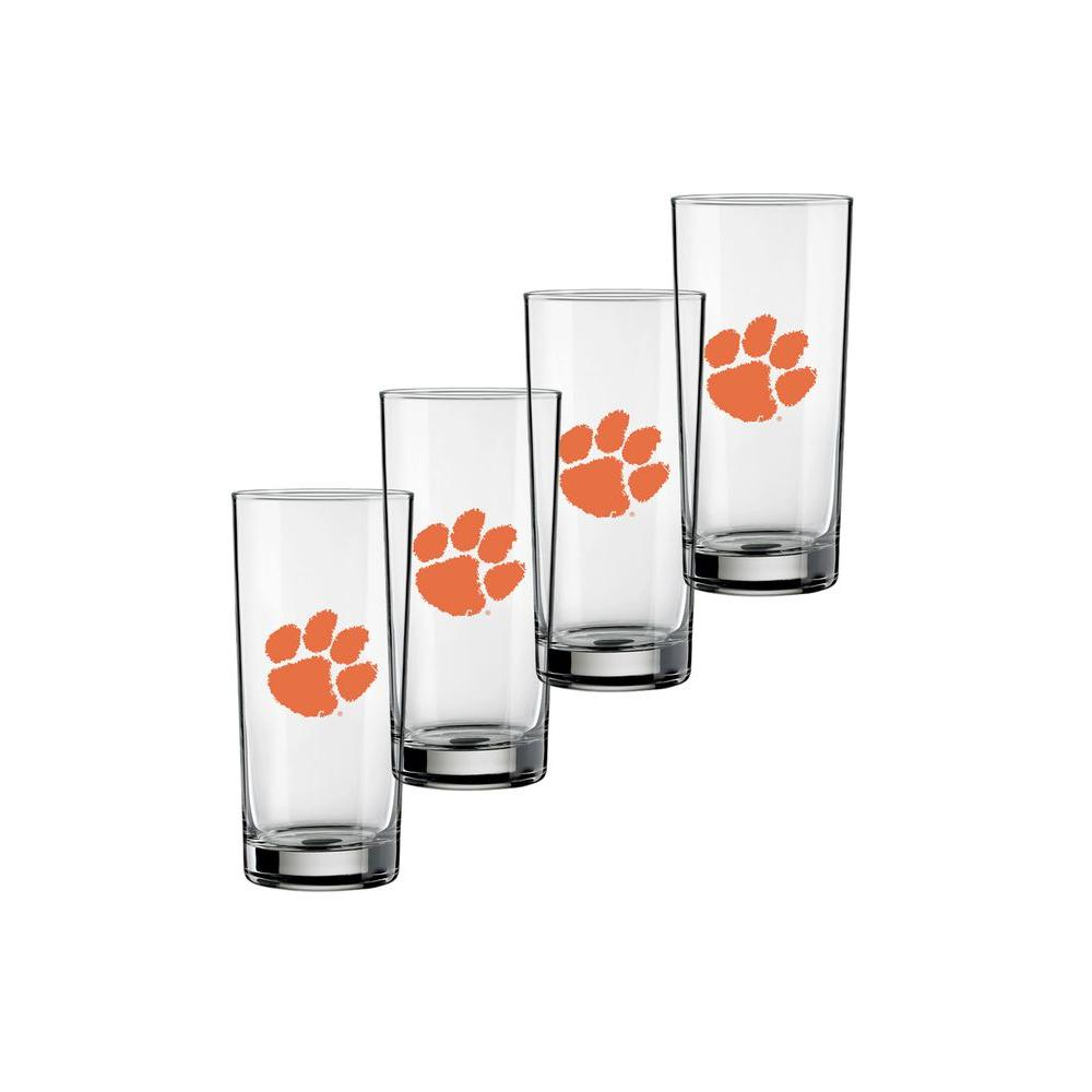 Kraftware Clemson 16 oz. Tall Beverage Glass (Set of 4)