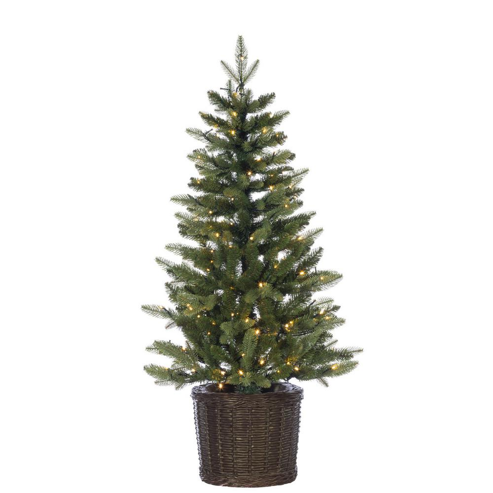 4 Ft White Christmas Trees Artificial: Sterling 4 Ft. Potted Natural Cut Ontario Pine Artificial