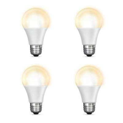 60-Watt Equivalent Soft White (2700K) A19 Dimmable Wi-Fi LED Smart Light Bulb (4-Pack)