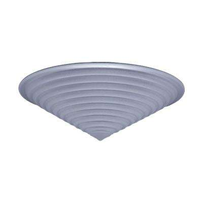 1-Light Ceiling Polished Chrome Flush Mount with Stepped Frost Glass
