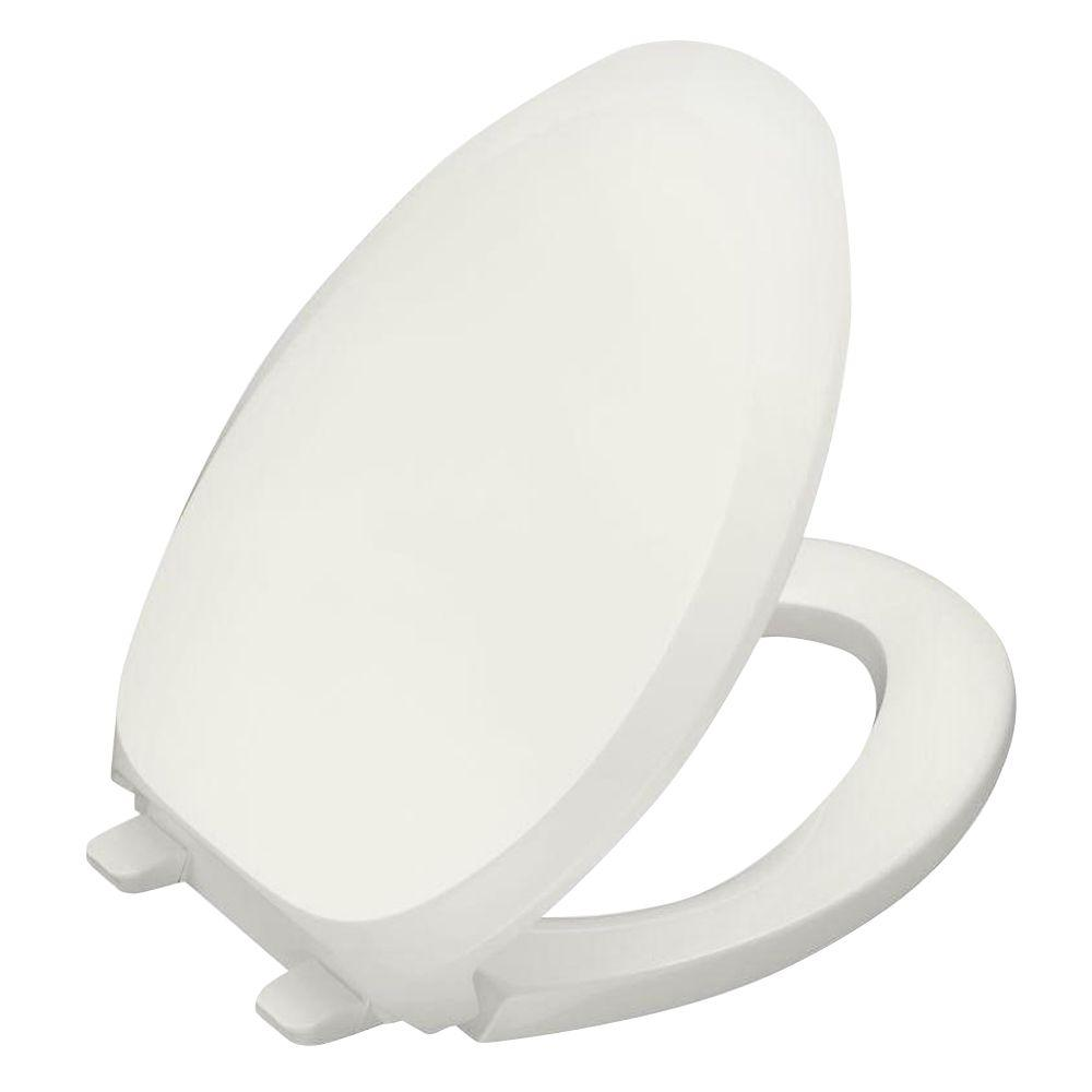 French Curve Quiet-Close Elongated Closed Front Toilet Seat with Grip-Tight