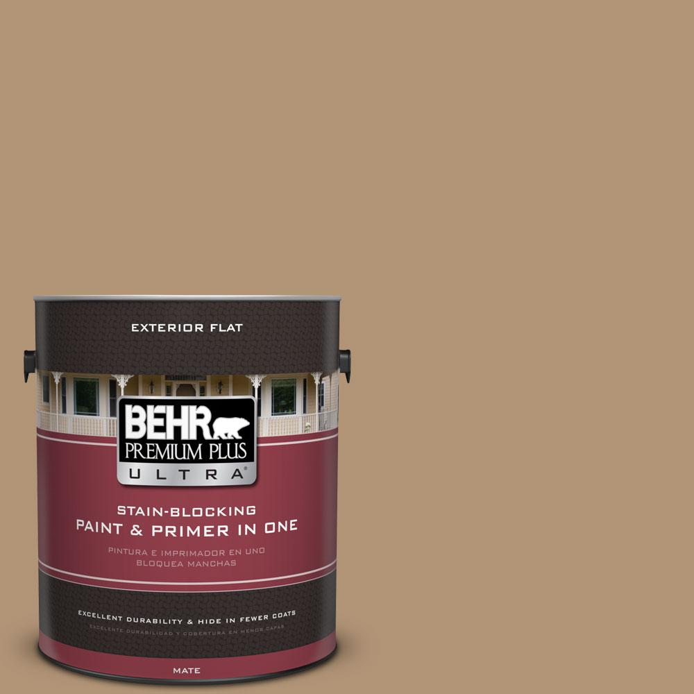 BEHR Premium Plus Ultra 1-gal. #290F-4 Cliff Rock Flat Exterior Paint