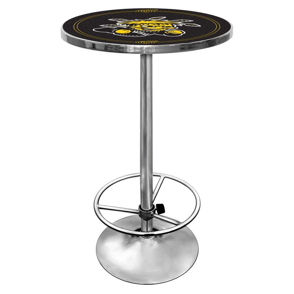 Wichita State University Chrome Pub/Bar Table