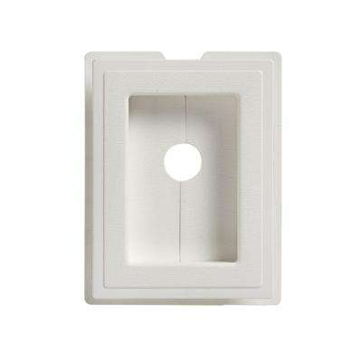 6 in. x 7.5 in. Split Recessed Mounting Block White