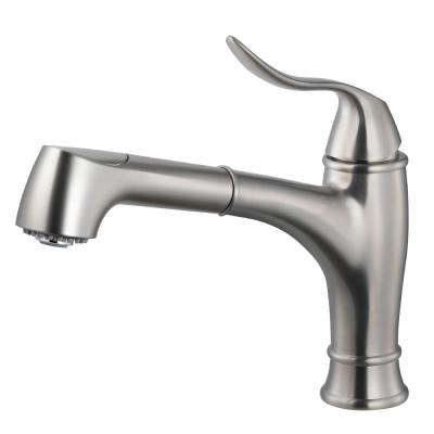 Surge Single-Handle Pull Out Sprayer Kitchen Faucet with CeraDox Technology in Brushed Nickel