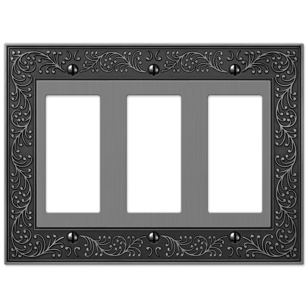English Garden 3 Decora Wall Plate - Antique Nickel