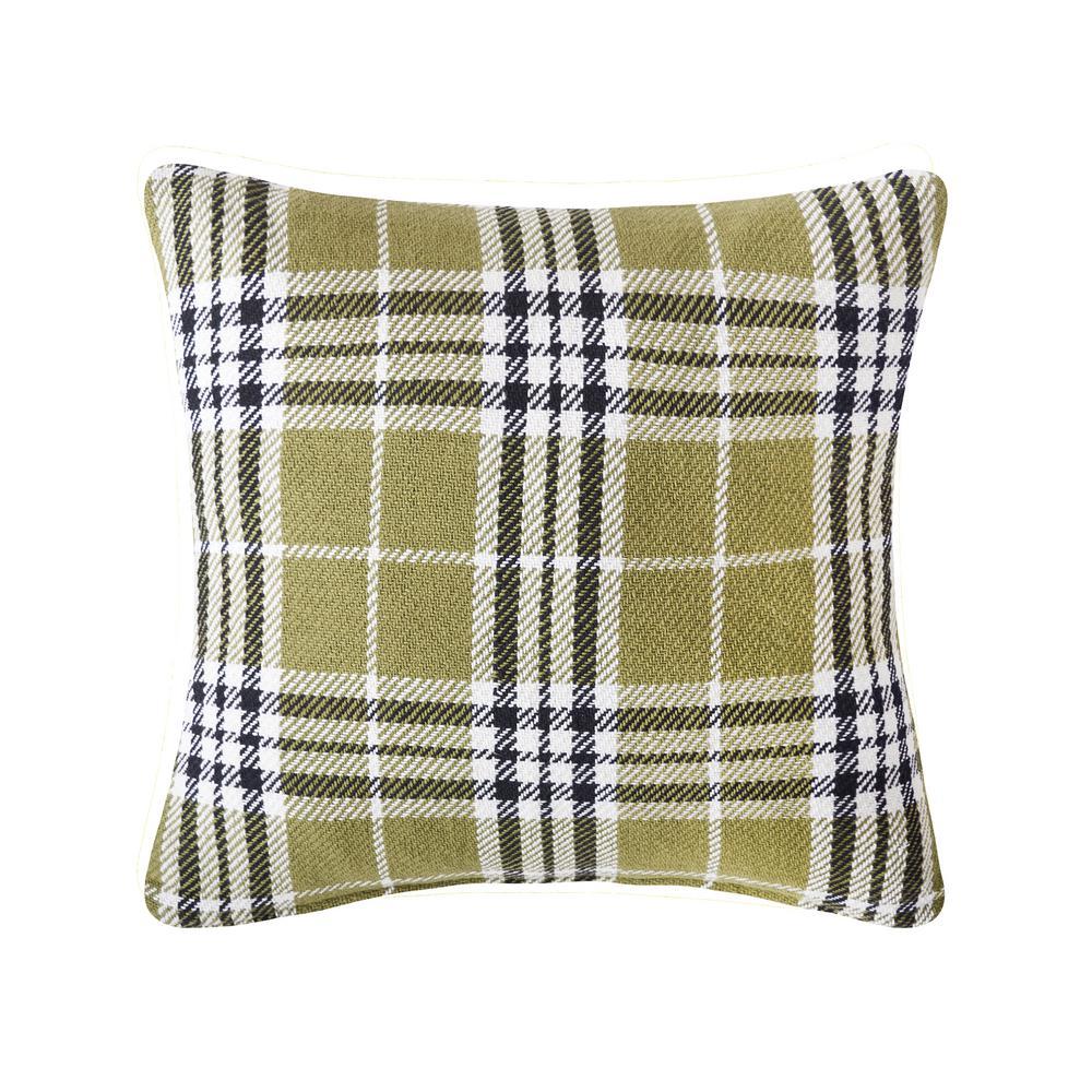 Tarragon Max Plaid Tarragon 18 in. x 18 in. Standard Throw Pillow