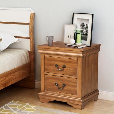 Drennen 2 Drawer Brown Nightstand