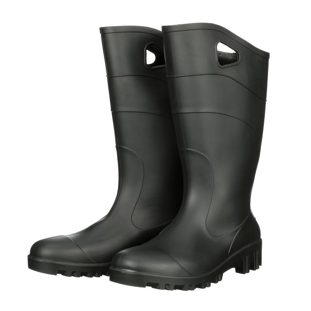Black Rubber Concrete Boot Size
