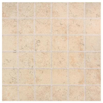 Briton Bone 12 in. x 12 in. x 6.35 mm Ceramic Mosaic Floor and Wall Tile (1 sq. ft. / piece)