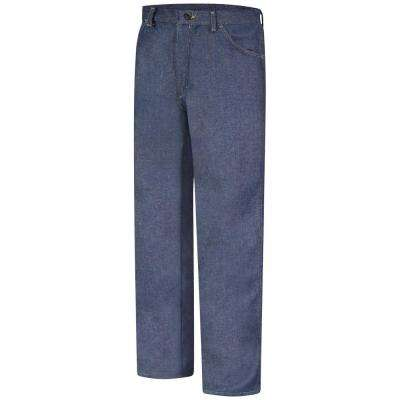 EXCEL FR Men's 34 in. x 30 in. Dark Denim Relaxed Fit Denim Jean