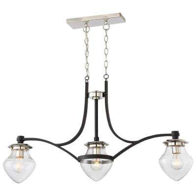 The Cape 3-Light Polished Nickel Island Light