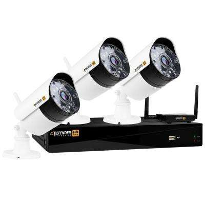 Wireless HD 1080p 4-Channel 1TB DVR Security System with 3 Bullet Cameras