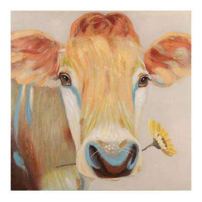 """40 in. x 40 in. """"Beauty in Besty"""" Hand Painted Canvas Wall Art"""