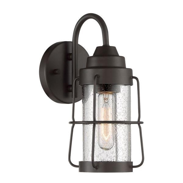 Marin 1-Light 6 in. Rustique Outdoor Wall Lantern Sconce