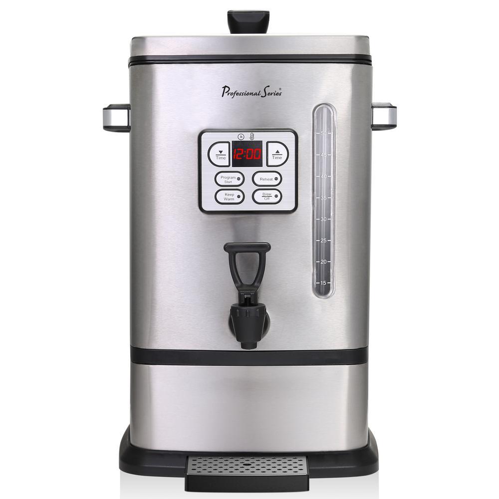 50-Cup Digital Coffee Urn Stainless Steel