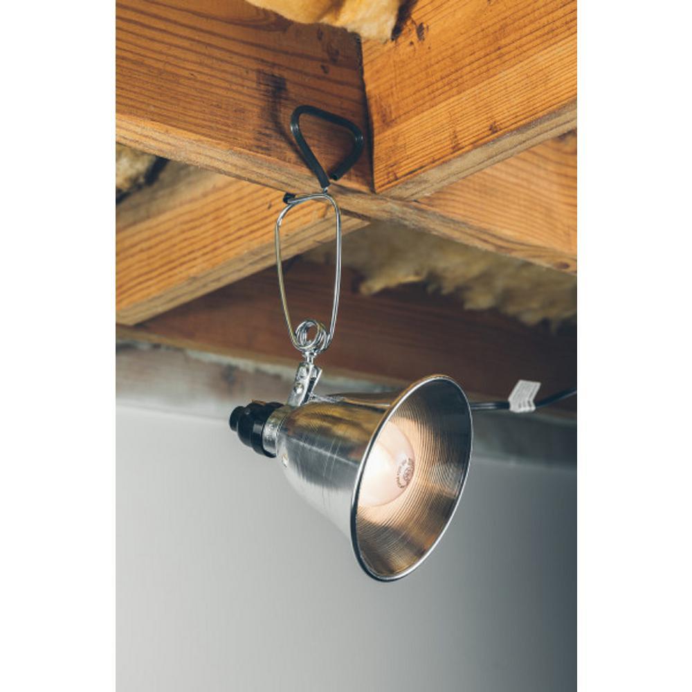 Woods 60 Watt 6 Ft 18 2 Spt Incandescent Portable Clamp Work Light With 5 In Reflector