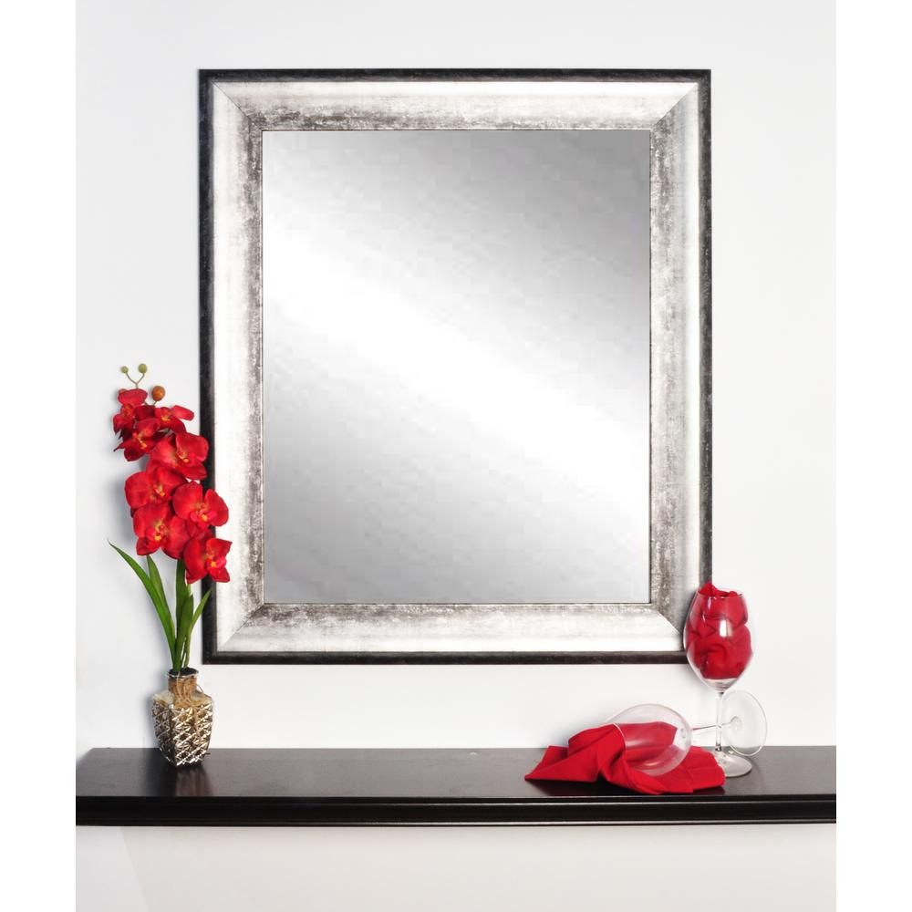 Midnight Silver Decorative Framed Wall Mirror Bm039sq The Home Depot
